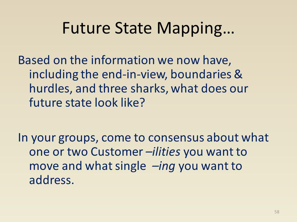 Future State Mapping…