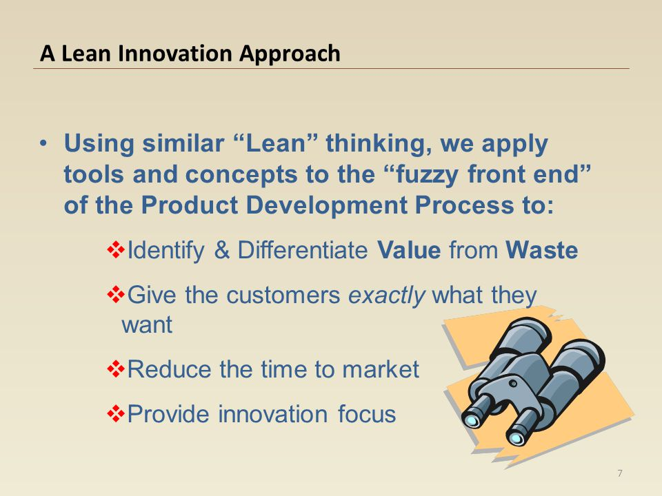 A Lean Innovation Approach