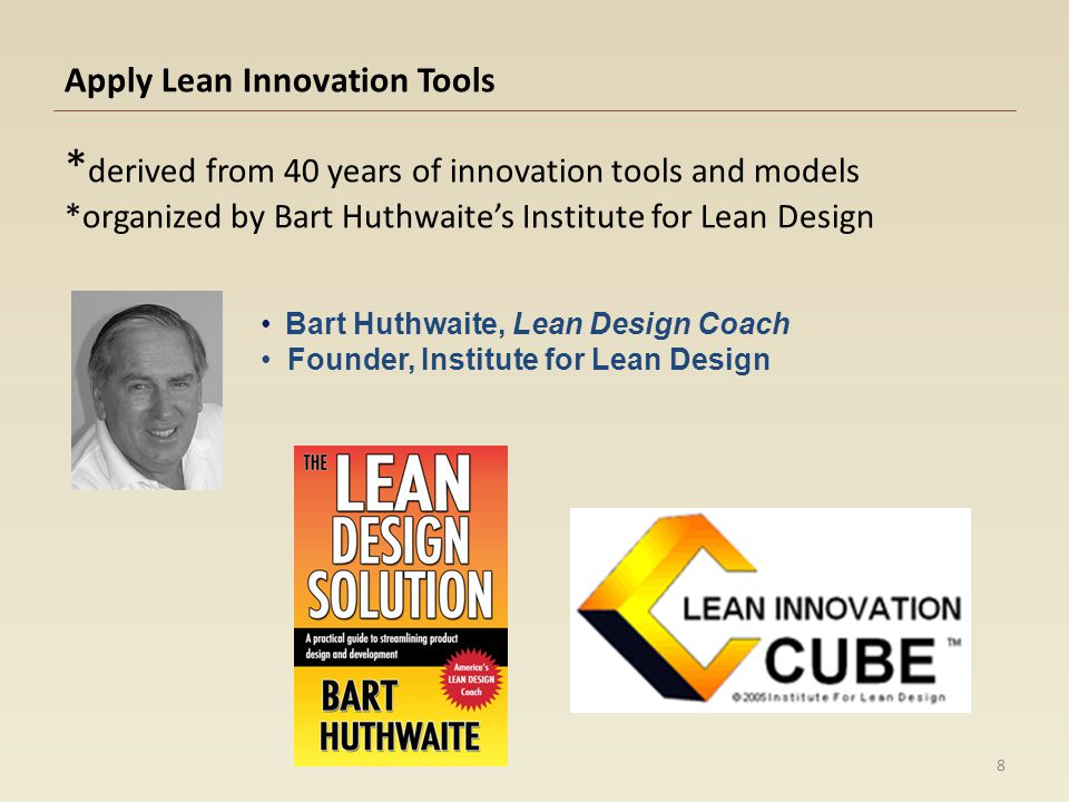 Apply Lean Innovation Tools