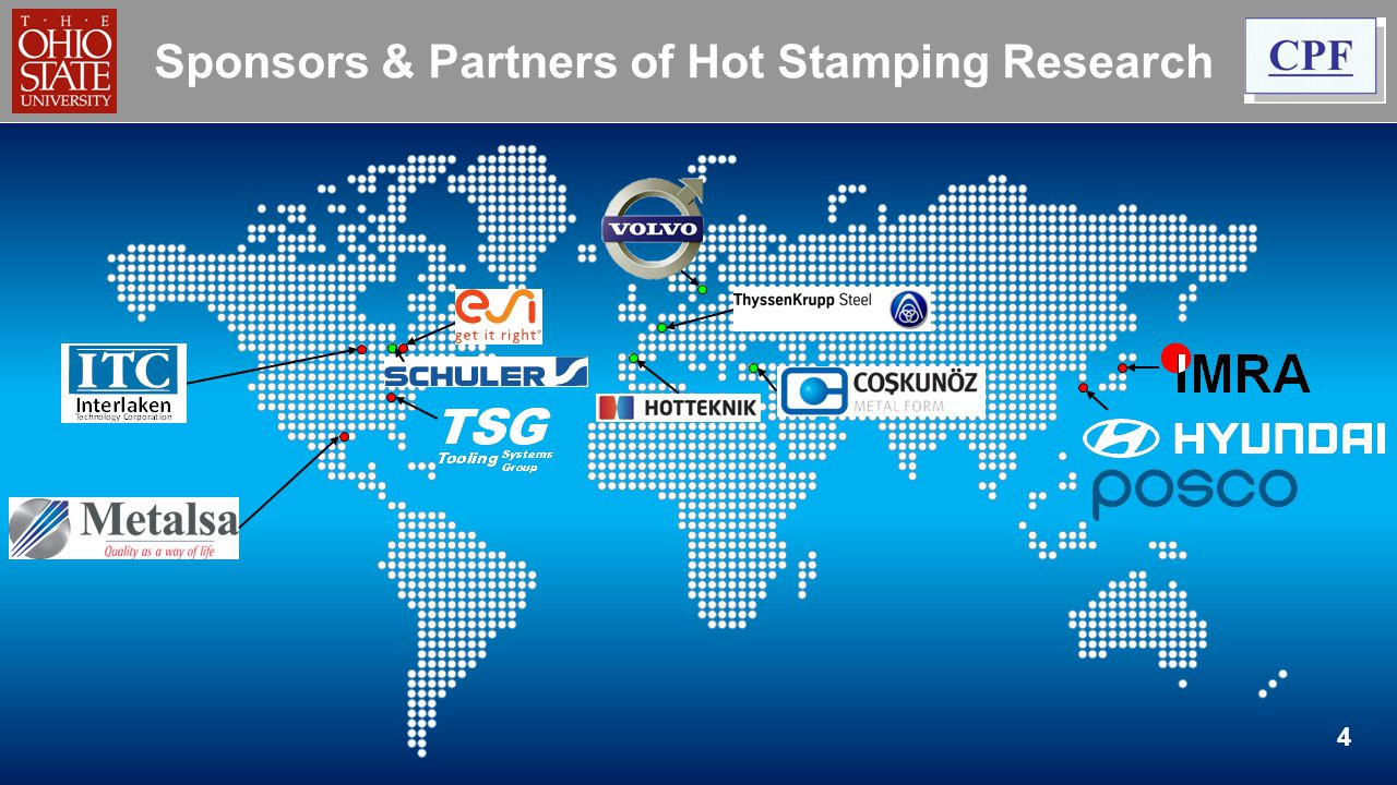 Sponsors & Partners of Hot Stamping Research