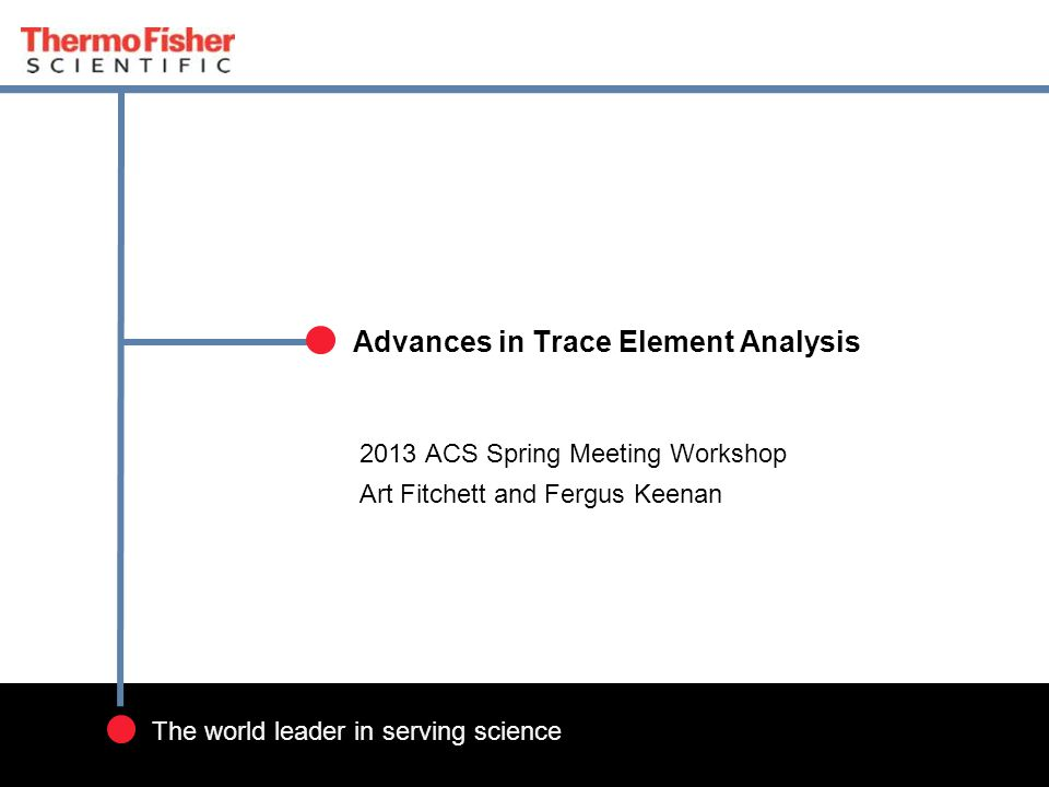 Advances in Trace Element Analysis