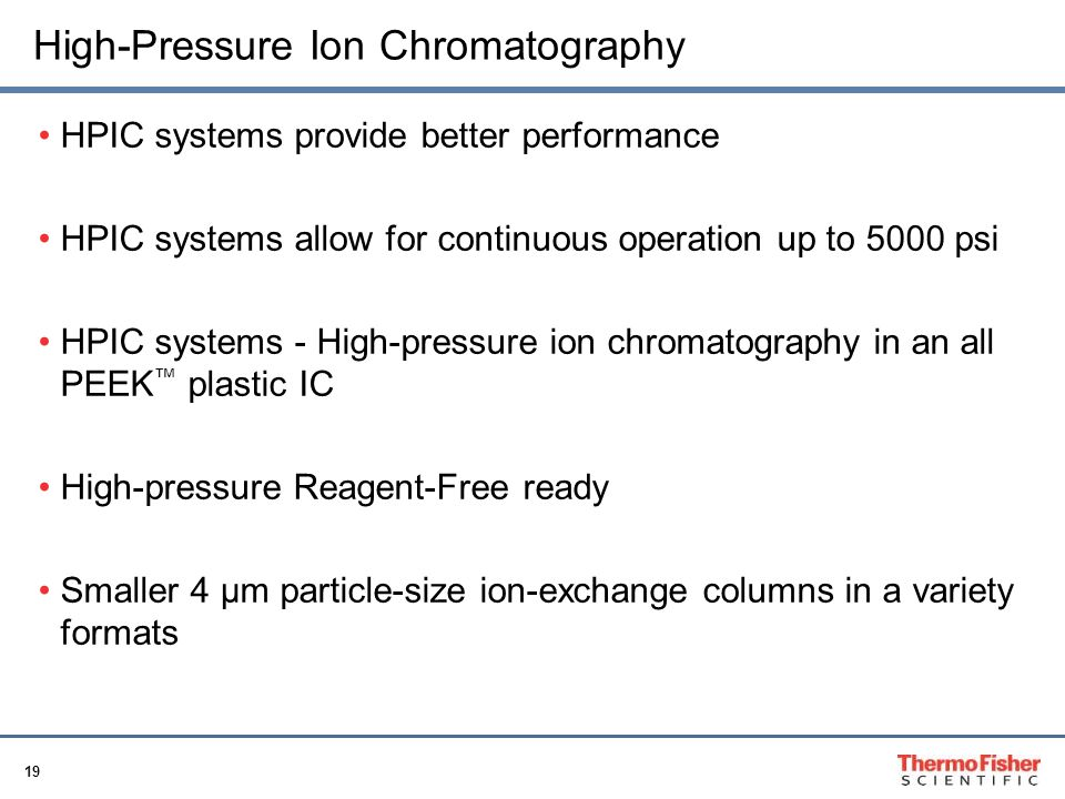 High-Pressure Ion Chromatography