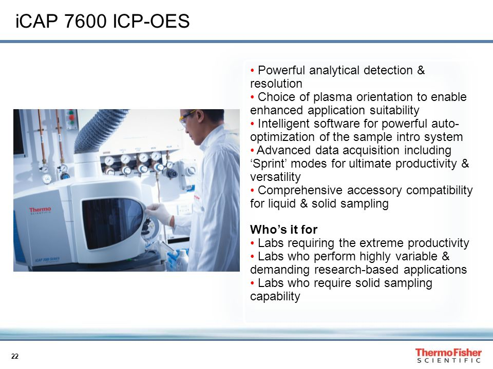 iCAP 7600 ICP-OES Powerful analytical detection & resolution