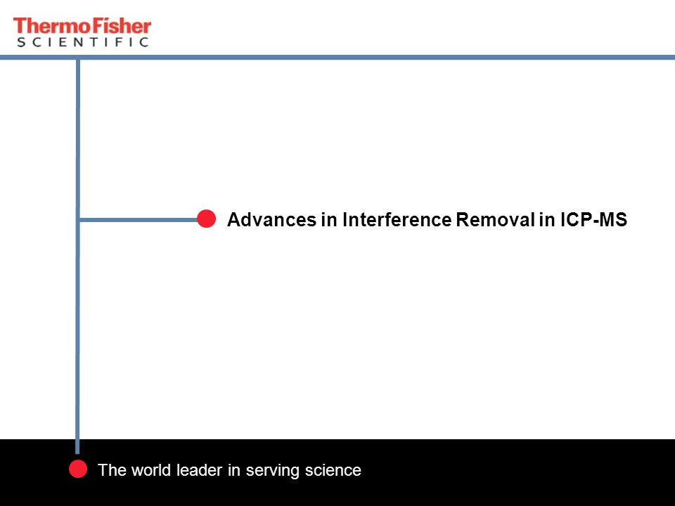 Advances in Interference Removal in ICP-MS