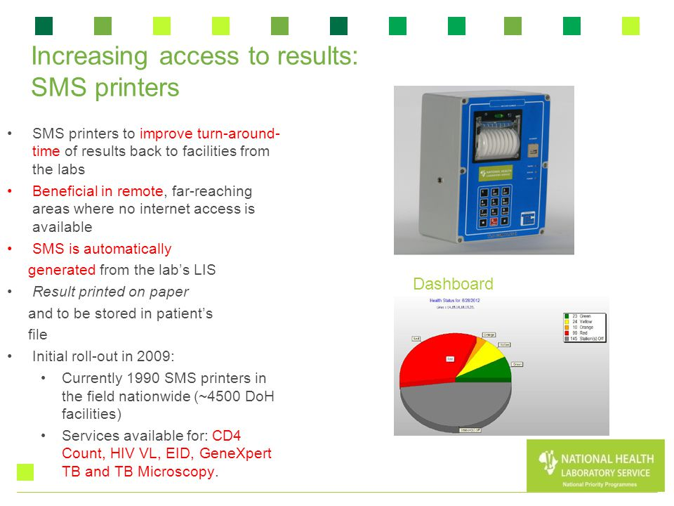 Increasing access to results: SMS printers