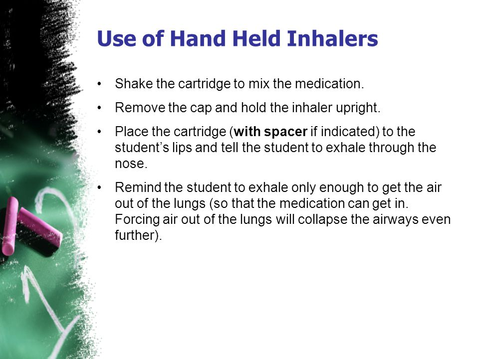 Use of Hand Held Inhalers