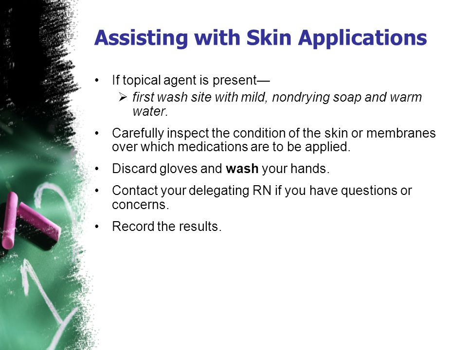 Assisting with Skin Applications