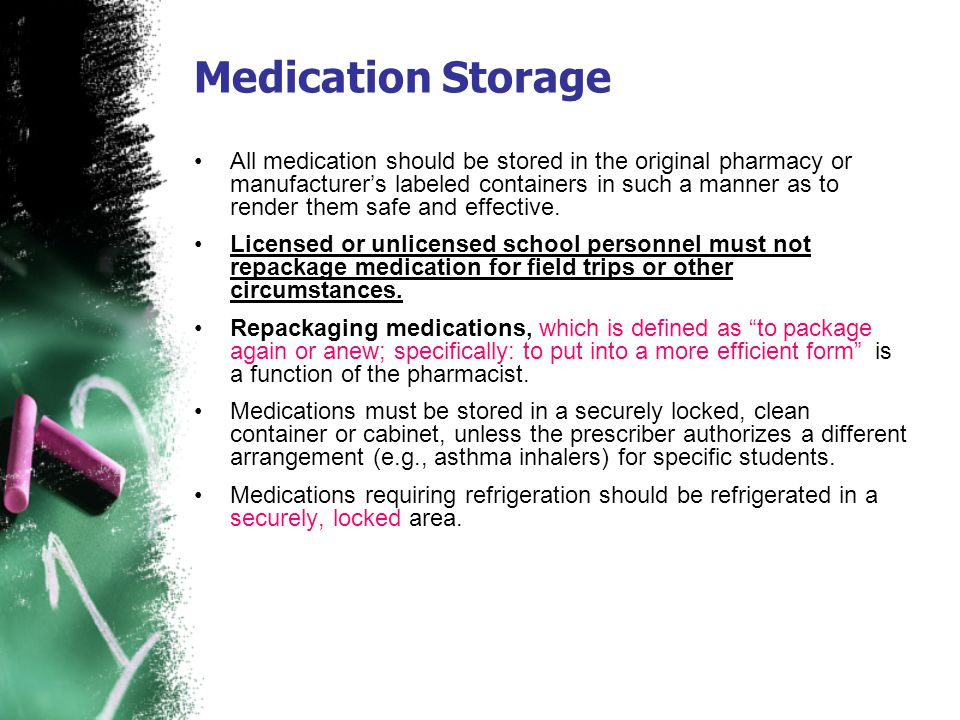 Medication Storage
