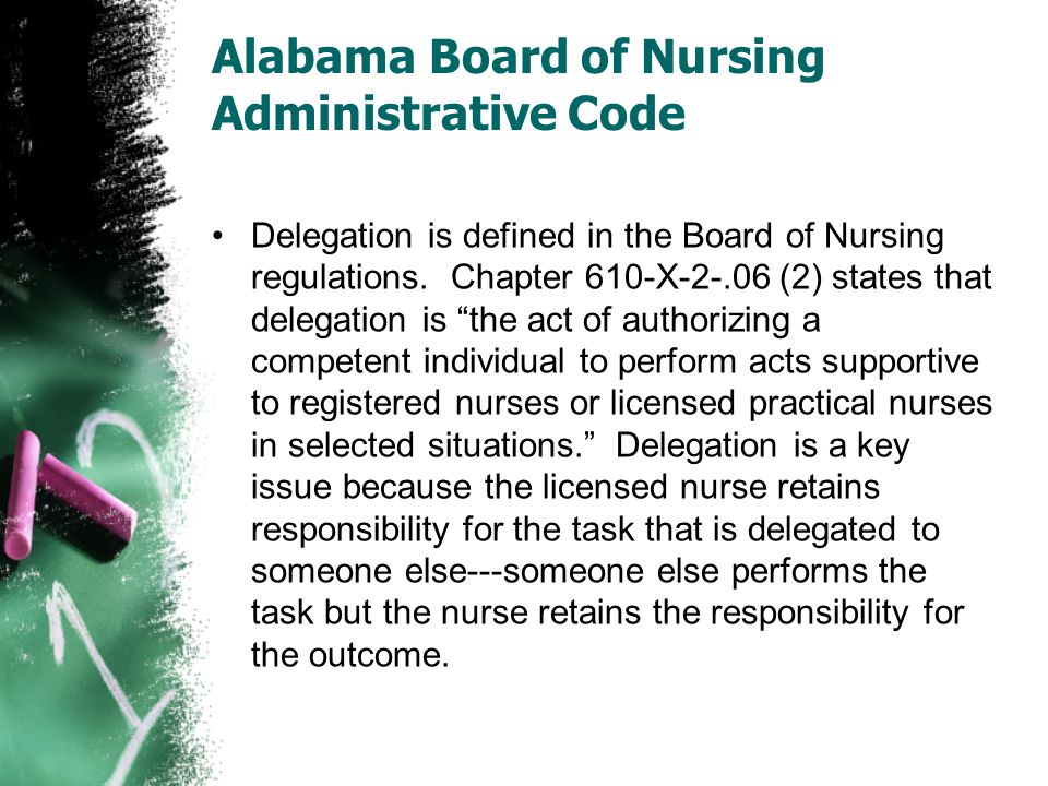 Alabama Board of Nursing Administrative Code