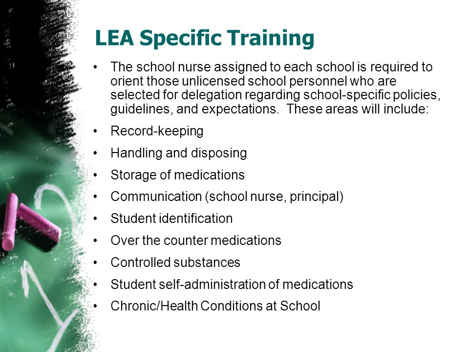 LEA Specific Training