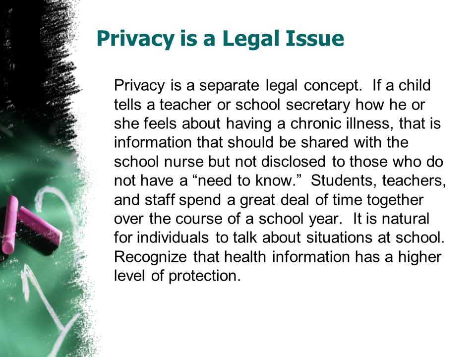 Privacy is a Legal Issue