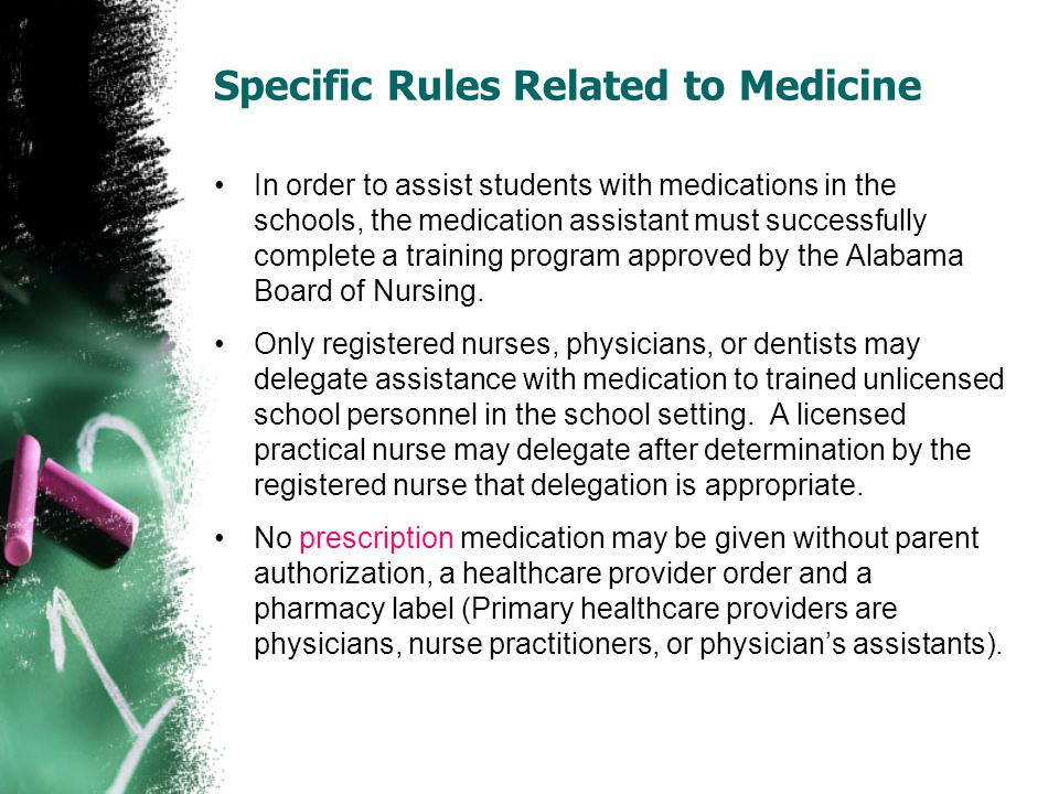 Specific Rules Related to Medicine