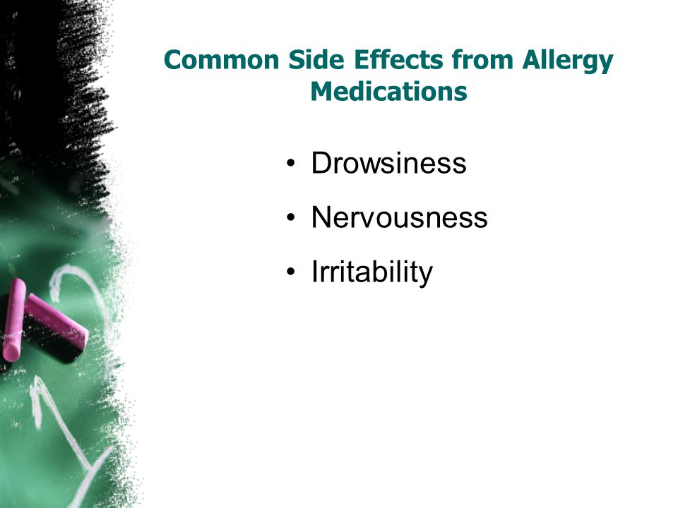 Common Side Effects from Allergy Medications
