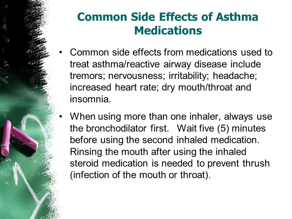 Common Side Effects of Asthma Medications