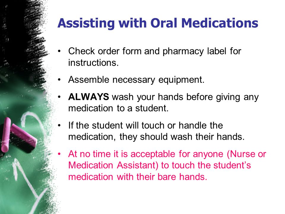 Assisting with Oral Medications