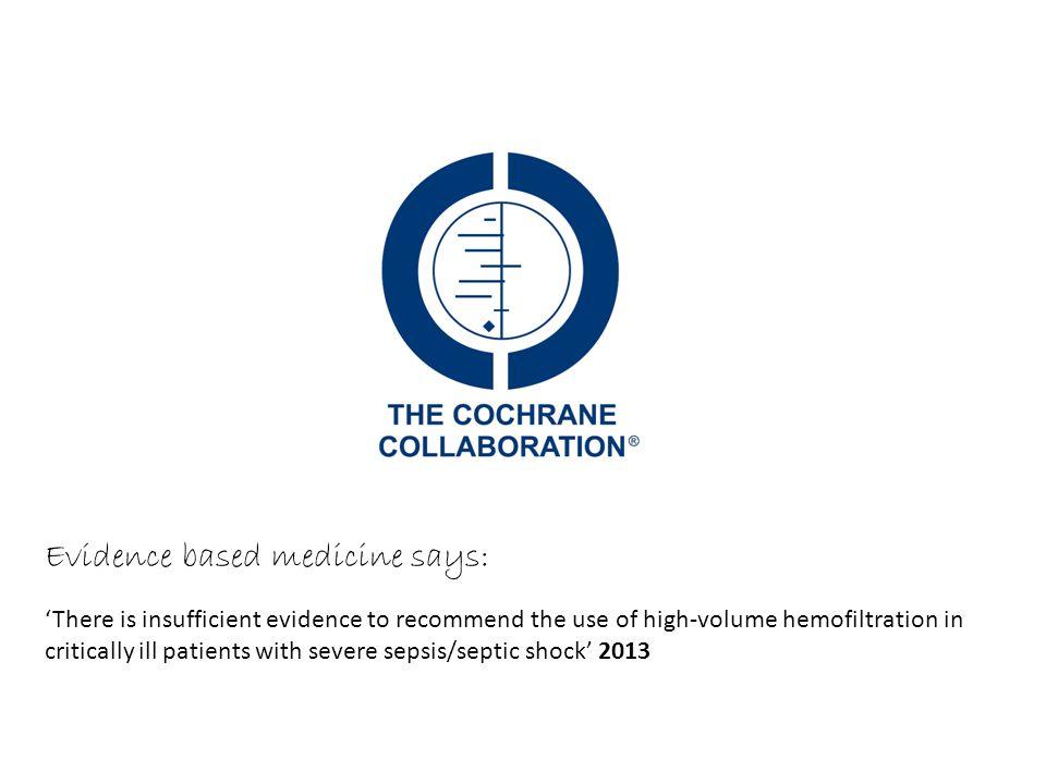 Evidence based medicine says: