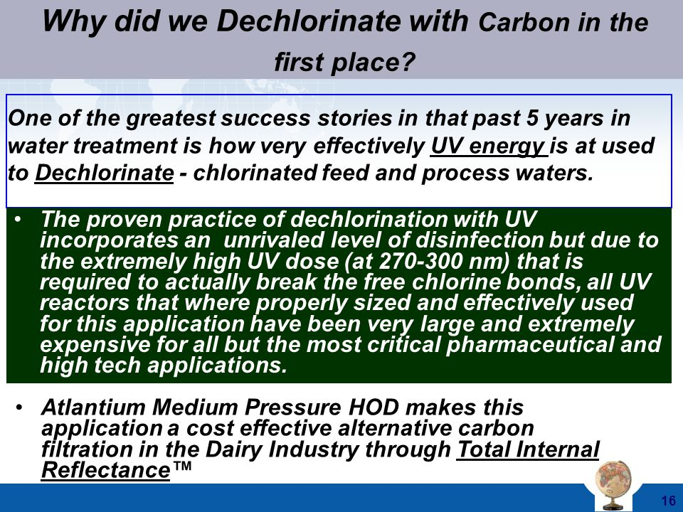 Why did we Dechlorinate with Carbon in the first place