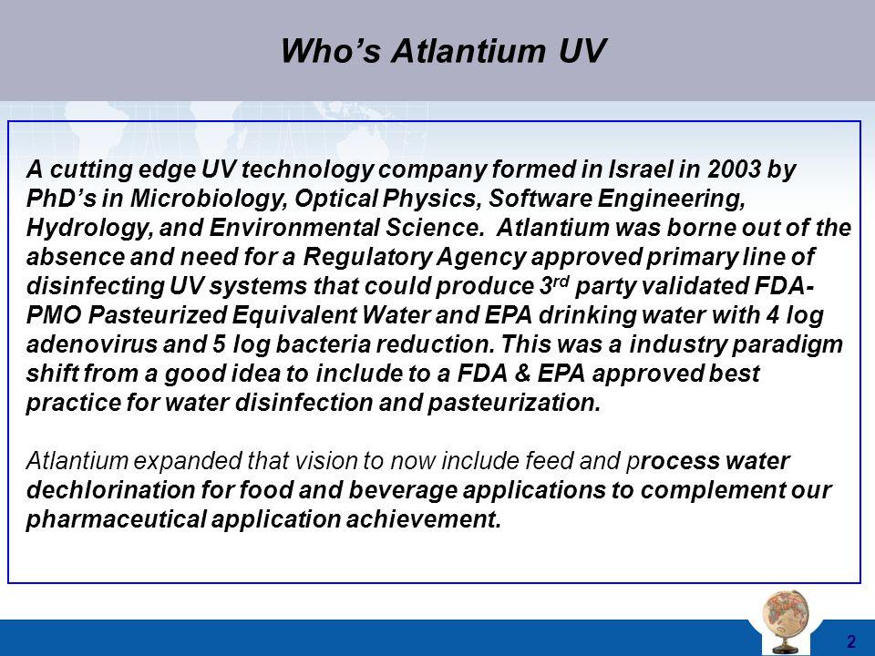 Who's Atlantium UV
