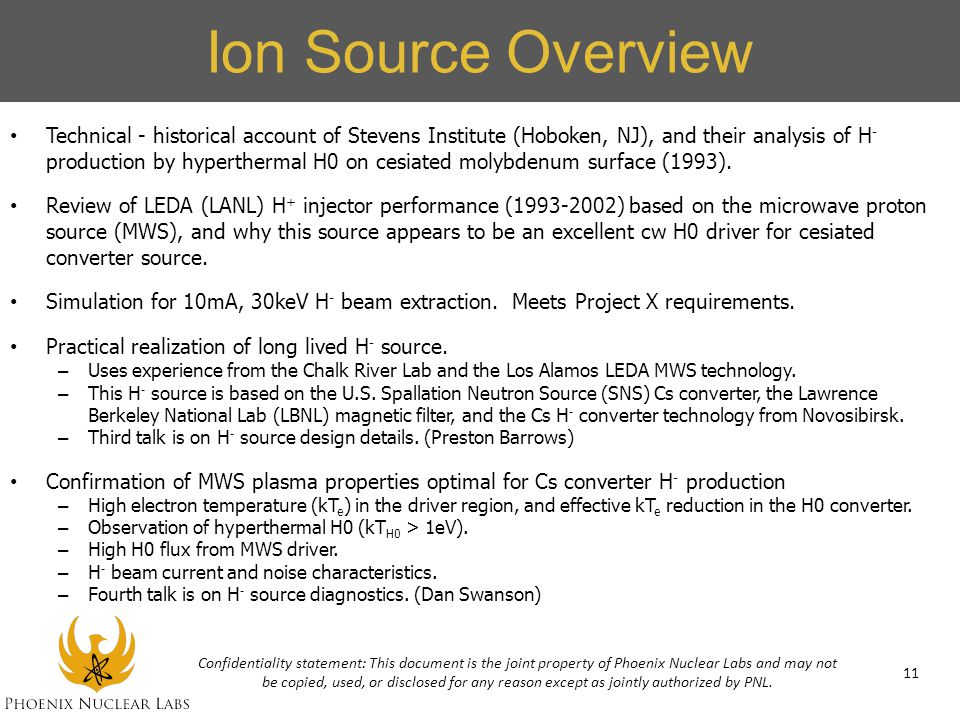 Ion Source Overview