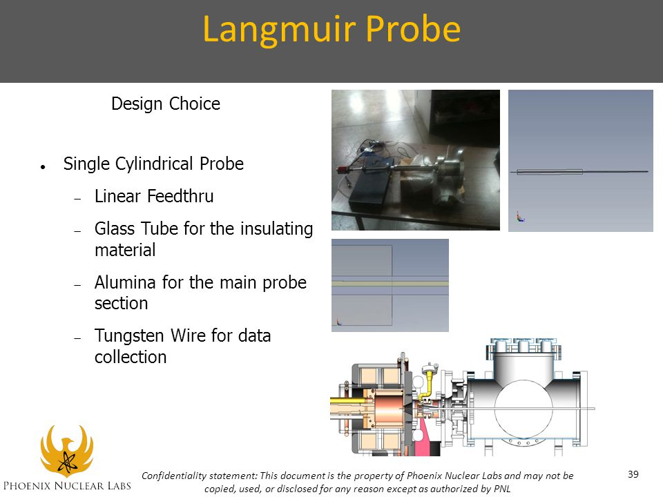 Langmuir Probe Design Choice Single Cylindrical Probe Linear Feedthru