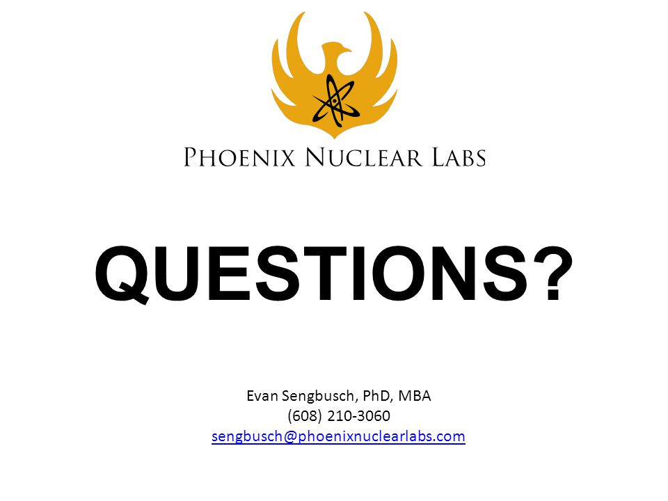 QUESTIONS Evan Sengbusch, PhD, MBA (608) 210-3060