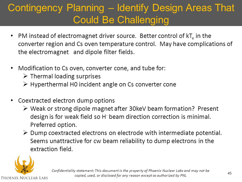 Contingency Planning – Identify Design Areas That Could Be Challenging