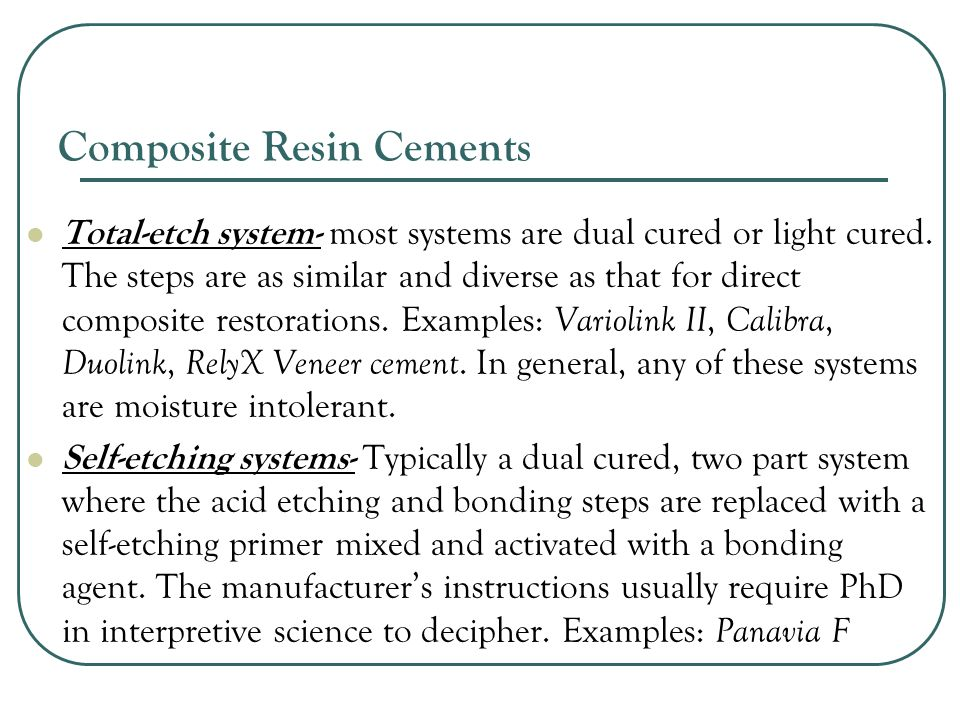 Composite Resin Cements