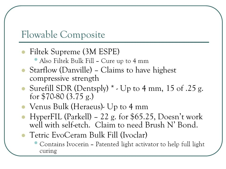 Flowable Composite Filtek Supreme (3M ESPE)