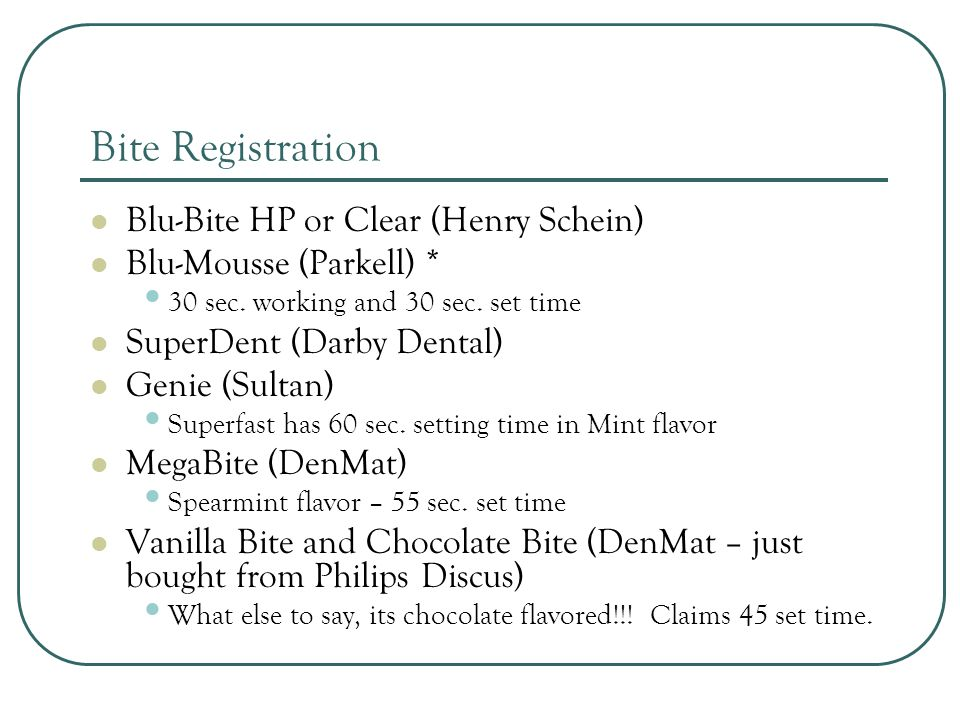 Bite Registration Blu-Bite HP or Clear (Henry Schein)