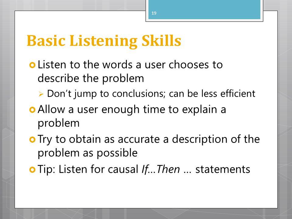 Basic Listening Skills