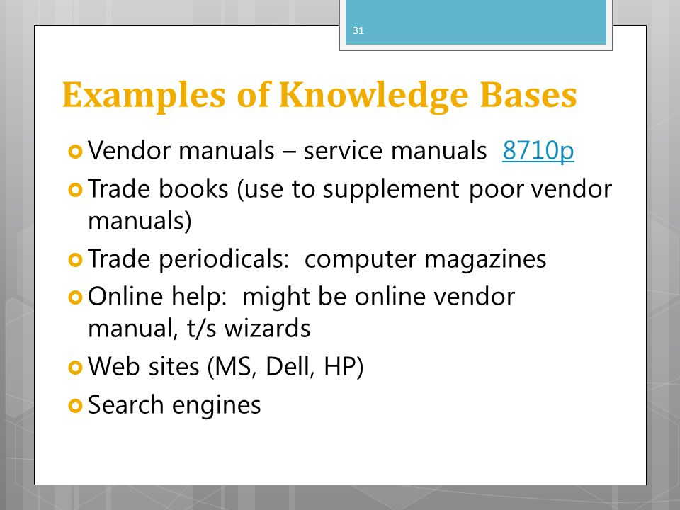 Examples of Knowledge Bases