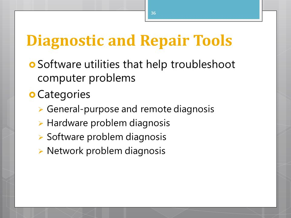 Diagnostic and Repair Tools