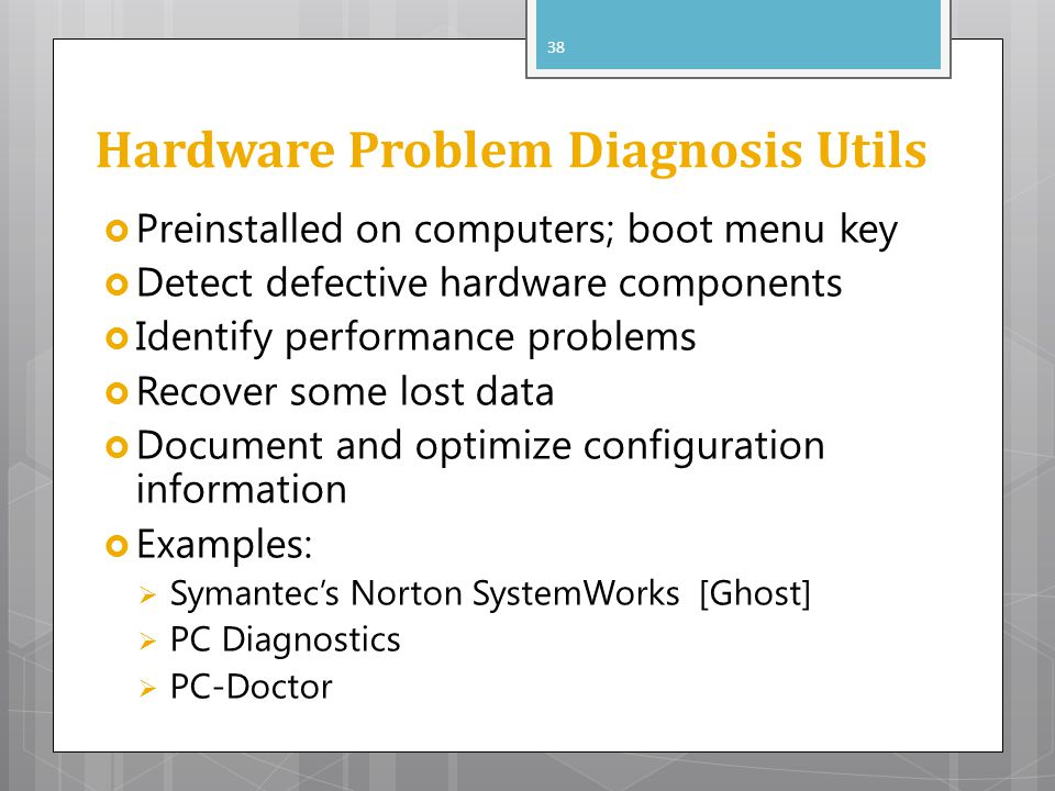 Hardware Problem Diagnosis Utils