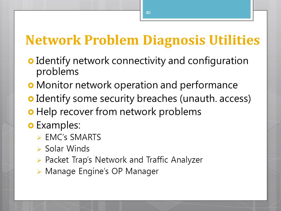 Network Problem Diagnosis Utilities