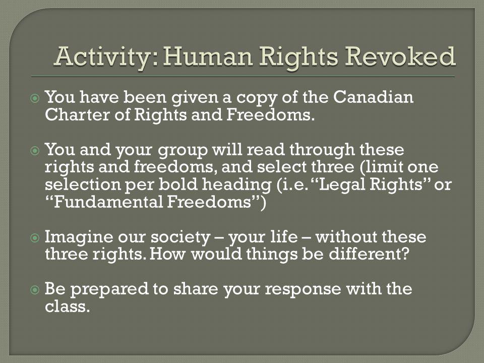 Activity: Human Rights Revoked