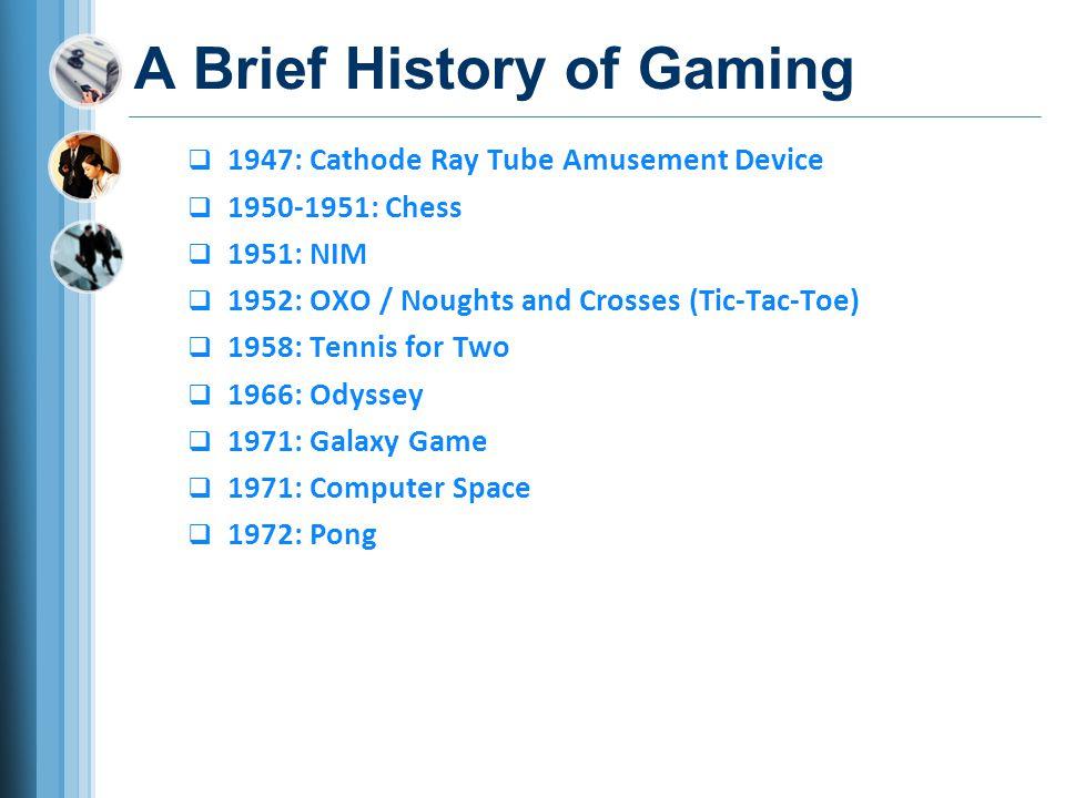 A Brief History of Gaming