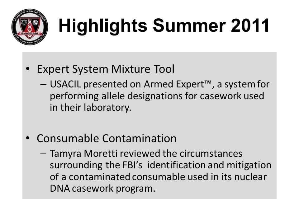 Highlights Summer 2011 Expert System Mixture Tool