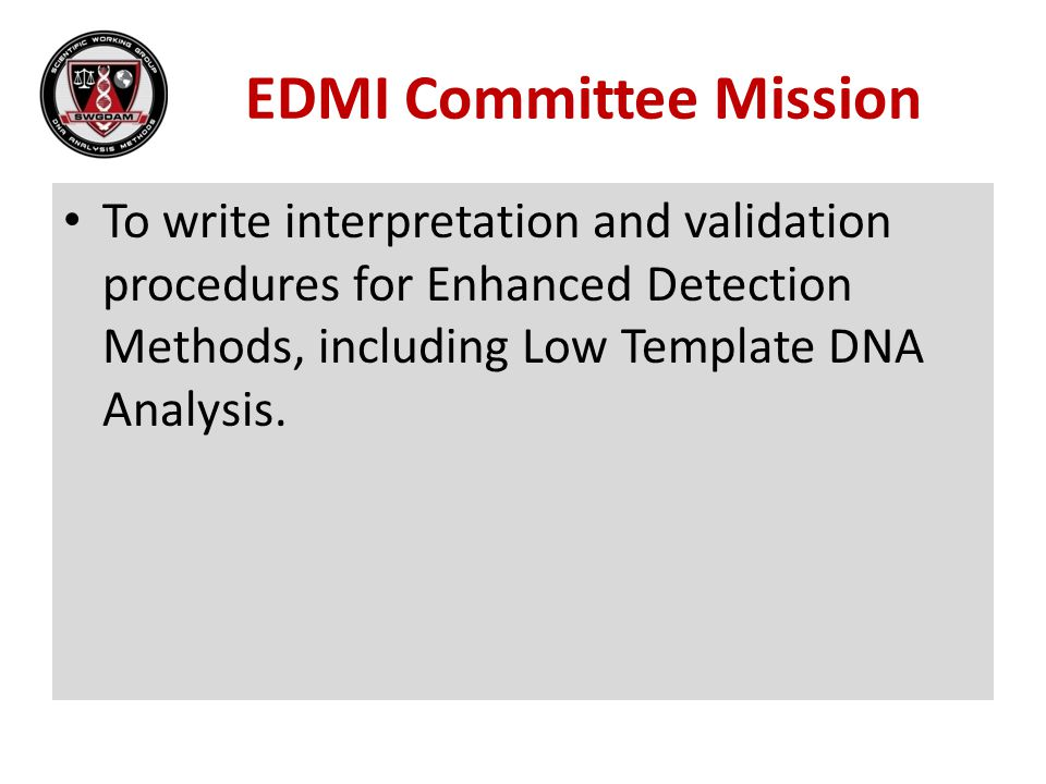 EDMI Committee Mission
