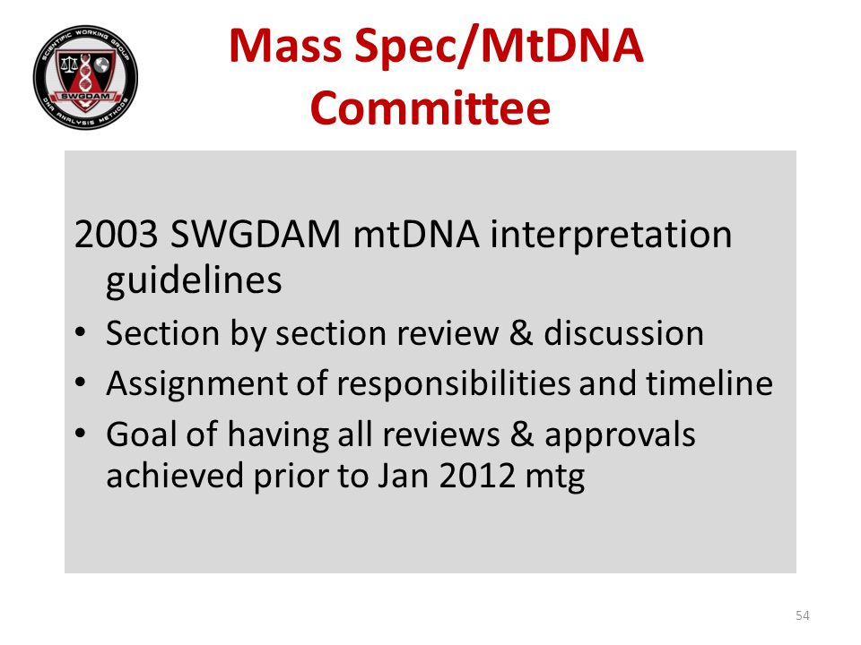 Mass Spec/MtDNA Committee