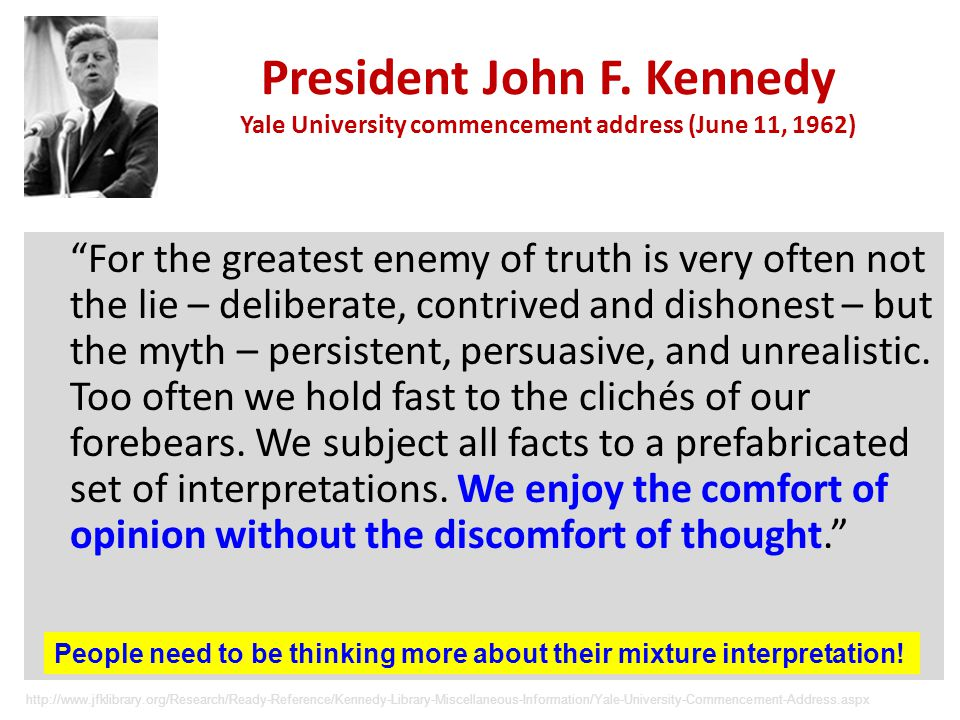 President John F. Kennedy Yale University commencement address (June 11, 1962)