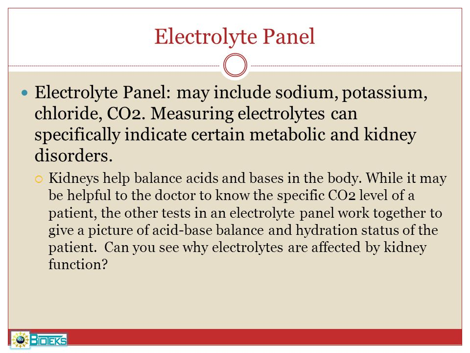 Electrolyte Panel
