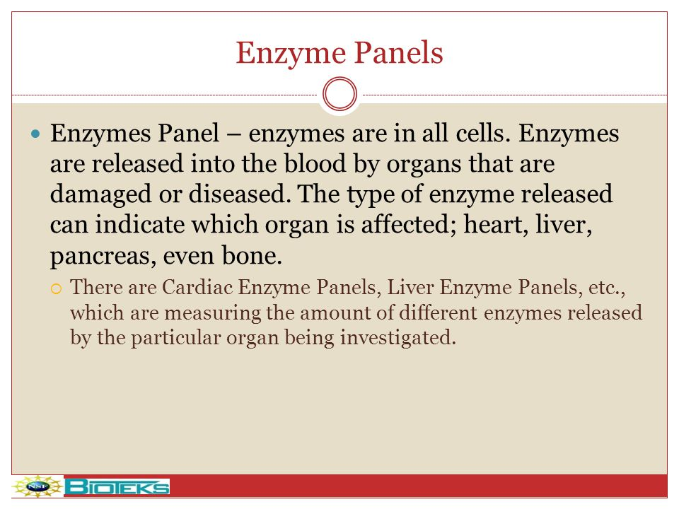 Enzyme Panels