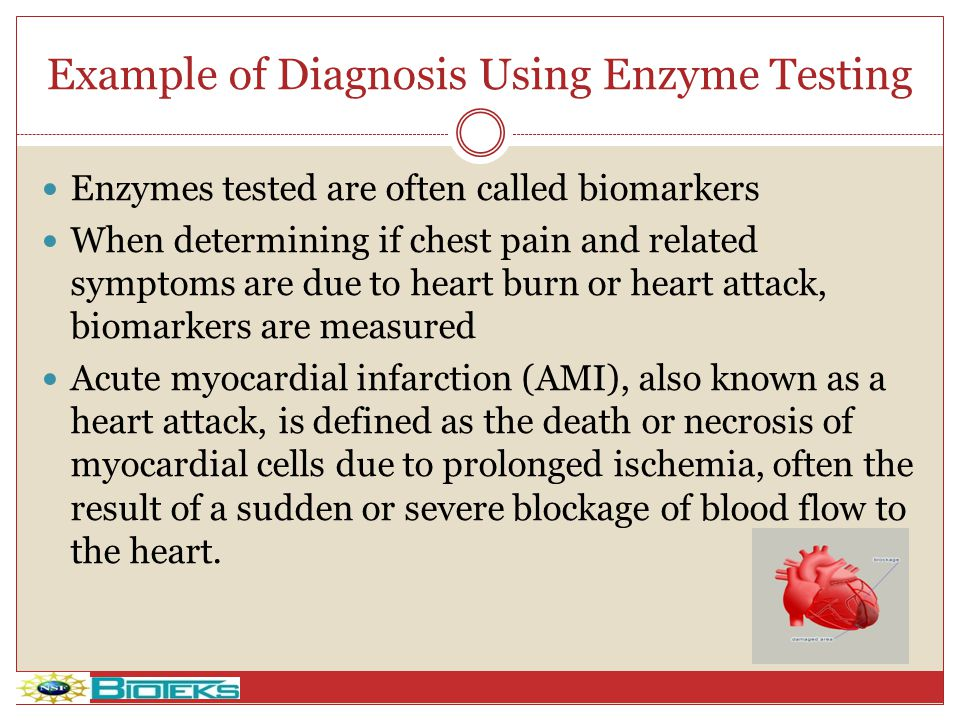 Example of Diagnosis Using Enzyme Testing