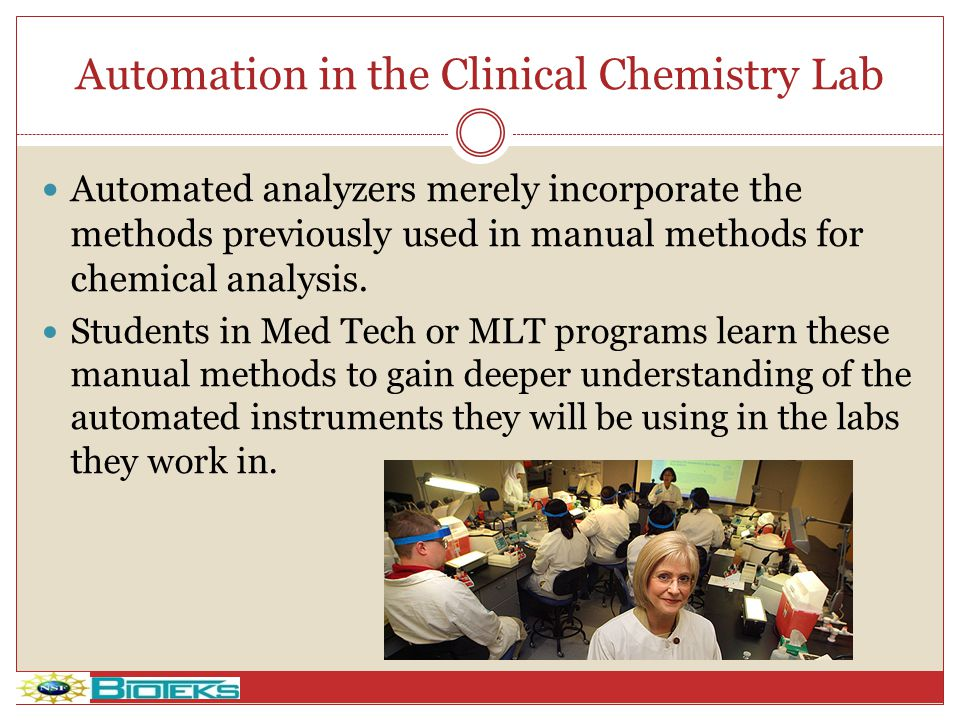 Automation in the Clinical Chemistry Lab