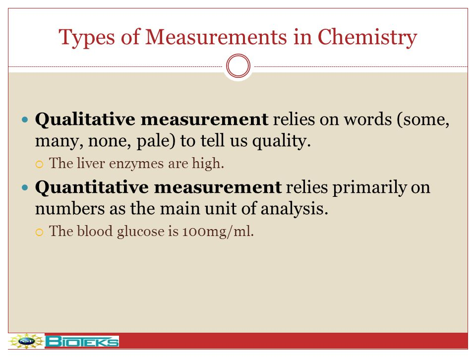 Types of Measurements in Chemistry