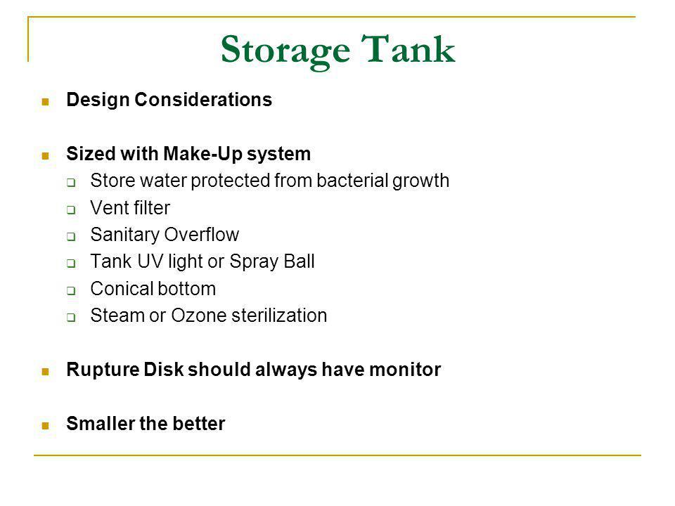 Typical Water Storage And Distribution Schematic