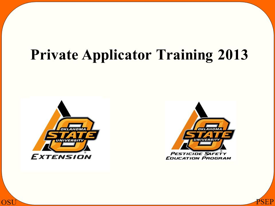 Private Applicator Training 2013