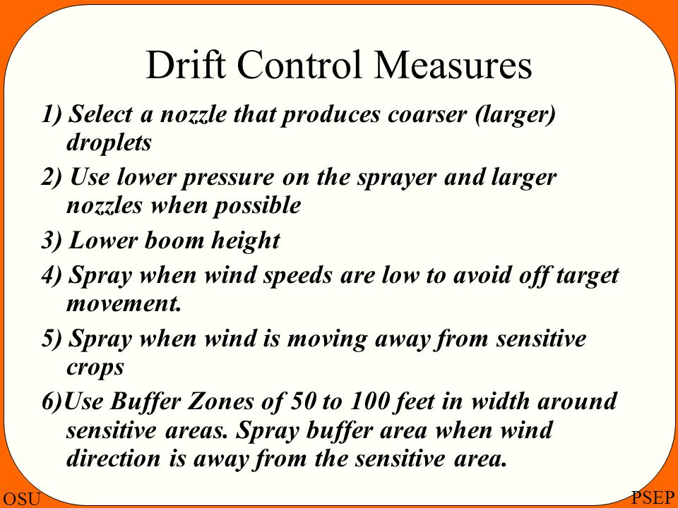 Drift Control Measures