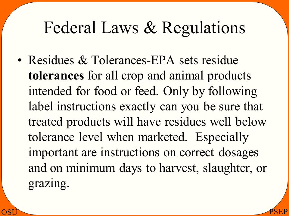 Federal Laws & Regulations