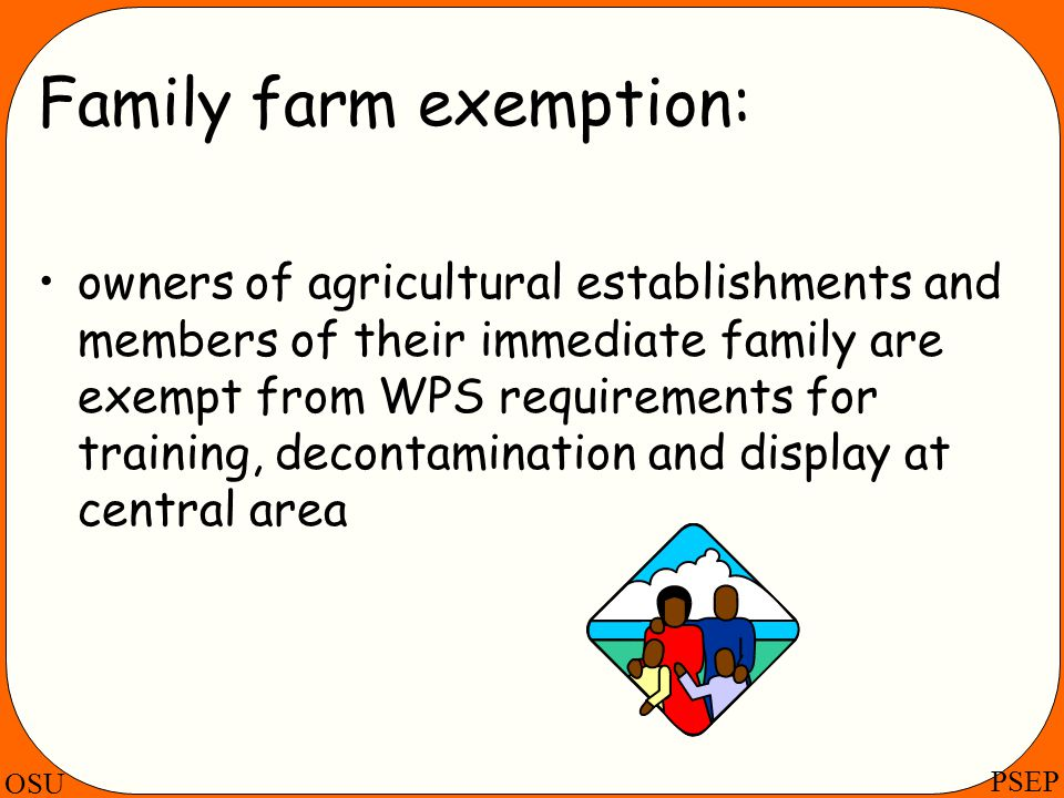 Family farm exemption: